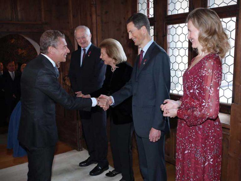 El Príncipe Heredero de Liechtenstein recibe al Embajador Darío Item