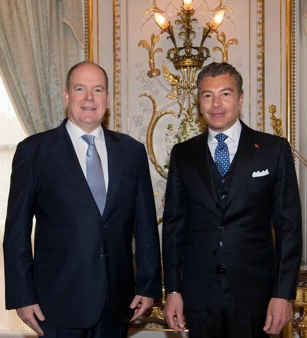 El Embajador Darío Item presenta las credenciales al Príncipe Alberto II de Mónaco